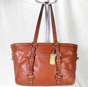 Coach Tan Leather Tote Handbag